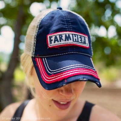 FarmHer Blue/Red Mesh Black Cap
